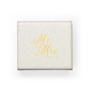 Mr and Mrs Calligraphy Box