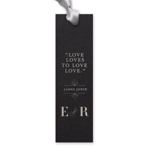 Line Frame Initials Bookmark