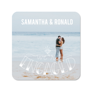 Engaged Photo/Full Color Coaster