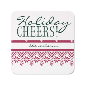 Holiday Cheers Photo/Full Color Coaster