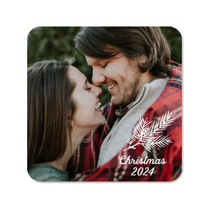 Christmas Pine Photo/Full Color Coaster