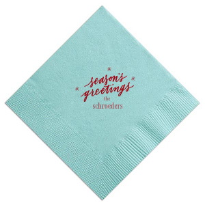 Season's Greetings Napkin