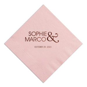 Modern Ampersand Wedding Napkin