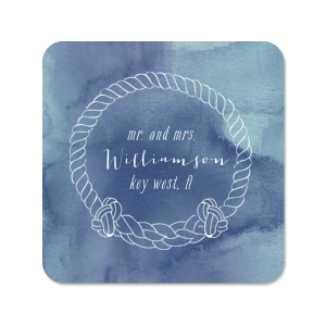 Nautical Rope Frame Photo/Full Color Coaster