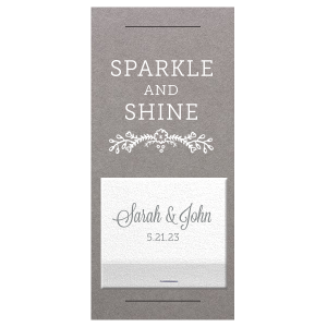 Sparkle And Shine Sparkler Sleeve with Match