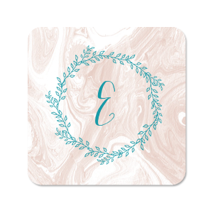 Marble Wreath Photo/Full Color Coaster