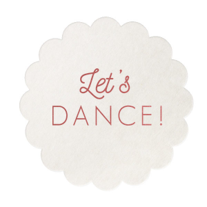 Martha Stewart Let's Dance Coaster