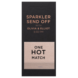 One Hot Match Sparkler Sleeve with Match