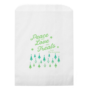 Watercolor Trees Photo/Full Color Party Bag