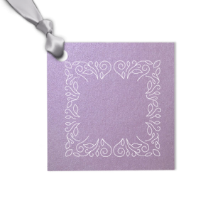 Linear Floral Frame Tag