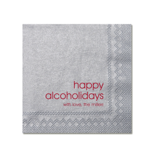 Happy Alcoholidays Holiday Napkin