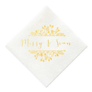 Floral Frame Couple Napkin