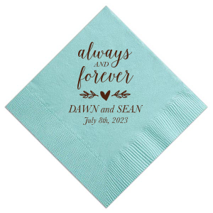Always And Forever Napkin