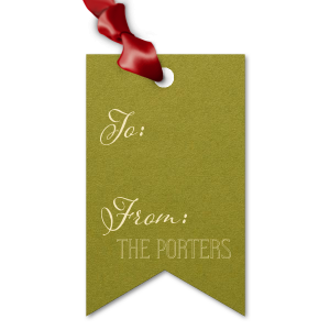 Classic Holiday Round Arch Gift Tag