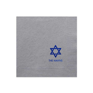 Hanukkah Cocktail Napkin