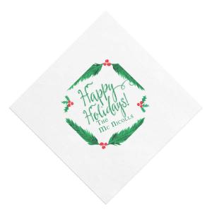 Holiday Wreath Photo/Full Color napkin