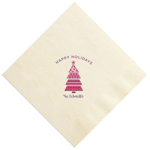 Holiday Tree Photo/Full Color napkin