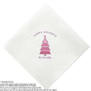 Holiday Tree Photo/Full Color napkin