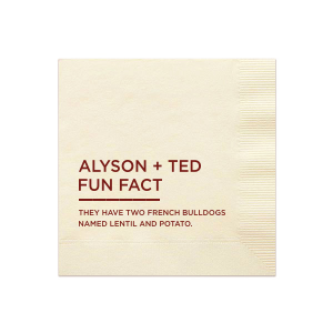 Fun Fact Napkin