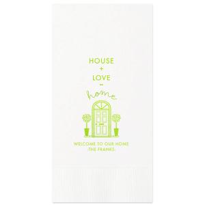 House Plus Love Napkin