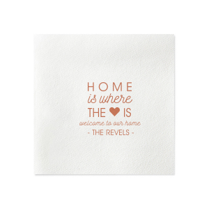 Home is Where the Heart Is Napkin