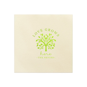 Love Grows Here Napkin