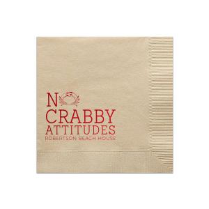 No Crabby Attitudes Napkin