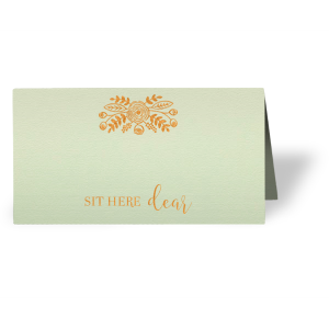 Sit Here Dear Place Card