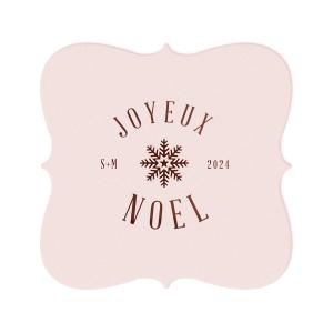 Joyeux Noel Snowflake Coaster