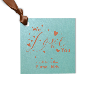 We Love You Gift Tag
