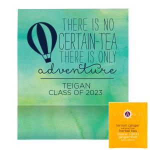 Graduation Adventure Tea Favor