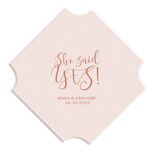 She Said Yes Script Coaster