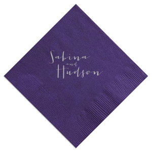 Handwriting Names Napkin