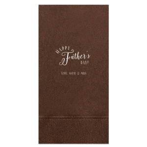 Whimsy Happy Father's Day Napkin