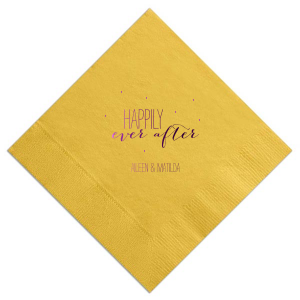 Happily Ever After Confetti Napkin