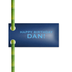 Happy Birthday Straw Tag