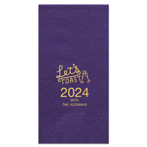 Let's Toast New Year Square Cocktail Napkin