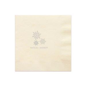 Snowflake Trio Napkin