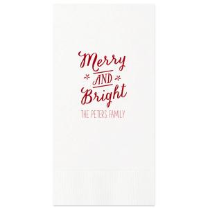 Merry And Bright Napkin