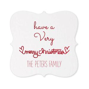 Merry Christmas Heart Coaster