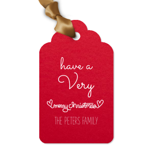 Merry Christmas Heart Tag