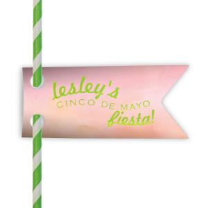 Fiesta Straw Tag