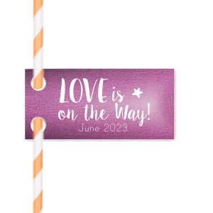 Love Arriving Straw Tag