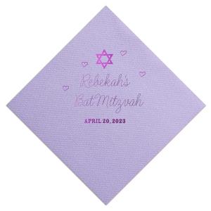 Hearts Bat Mitzvah Napkin