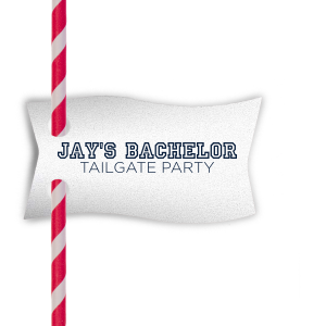 Bachelor Tailgate Straw Tag