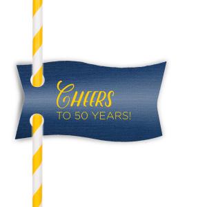 Cheers Anniversary Straw Tag