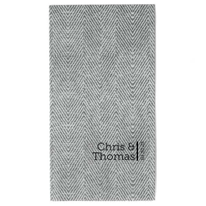 Names and Vertical Date Napkin