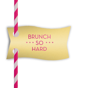 Brunch Straw Tag