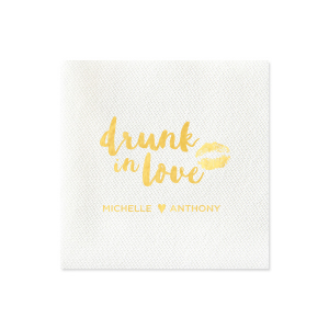 Drunk in Love Smooch Napkin