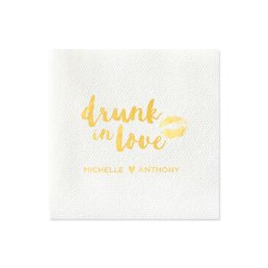 Drunk in Love Smooch Napkin